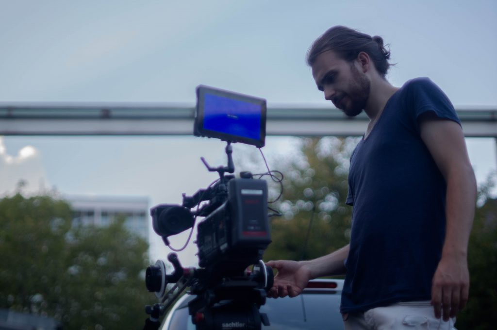 Antoine Matuttis on the film set of BLCKJNGE by Sejad Ademaj